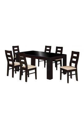 HENRY 1800-6X3.5 DINING TABLE+ ASDA CHAIR